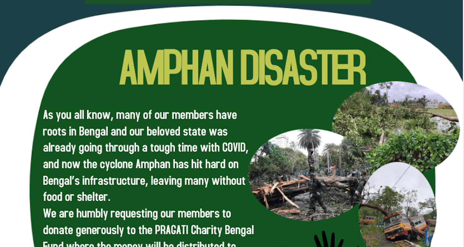 PRAGATI Amphan Fundraising Drive for West Bengal